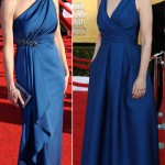 Diane Lane Jane Lynch blue David Meister dresses 2012 SAG Awards