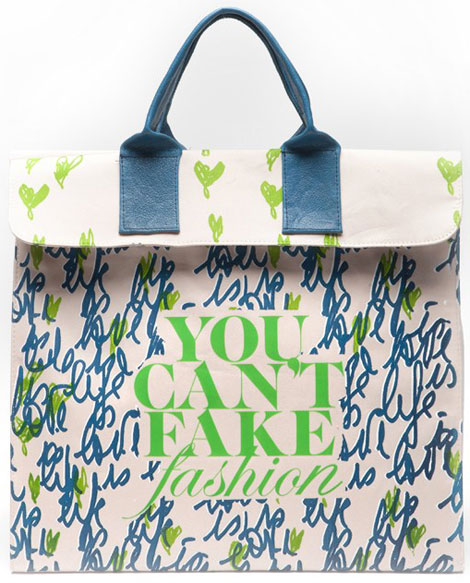 Diane Von Furstenberg Can t Fake Fashion eBay CFDA Tote