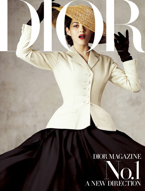 Dior Mag Marion Cotillard covers first issue