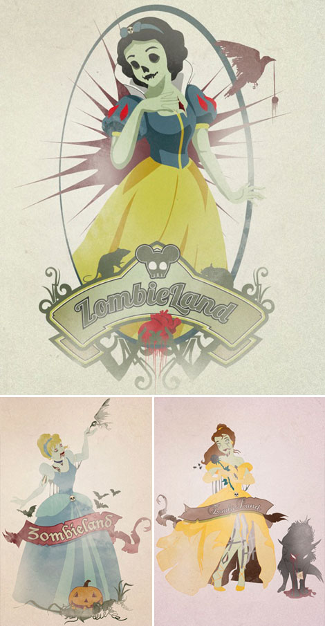 Disney Princesses dressed up for Halloween