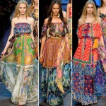 Dolce and Gabbana D and G gipsy dresses summer 2012