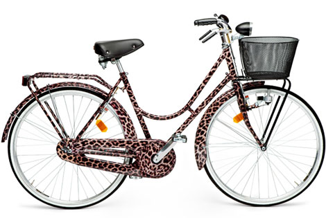 Dolce and Gabbana leopard print bicycle