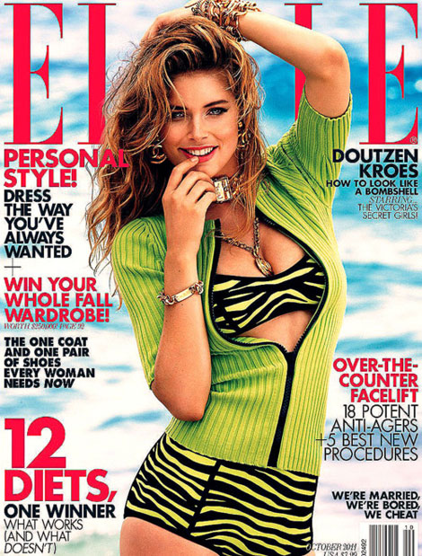 Doutzen Kroes Elle October 2011 cover