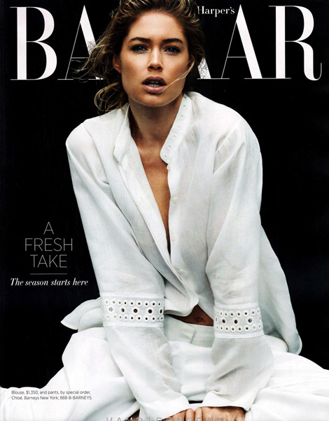 Doutzen Kroes' Harper's Bazaar March 2012. White Is In