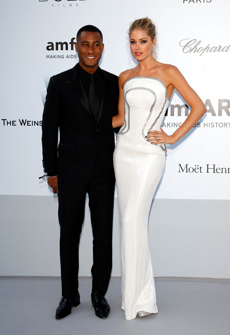 Doutzen Kroes with husband Sunnery James at the amfAR Cannes 2012