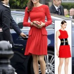 Duchess Catherine Alexander McQueen red dress Queen s Diamond Jubilee