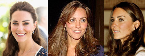 Duchess Kate heavy eyeliner