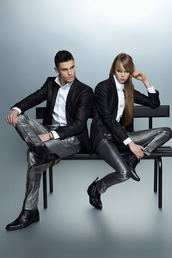 Edie Campbell Baptiste Giabiconi Karl Lagerfeld fw 12 13 campaign