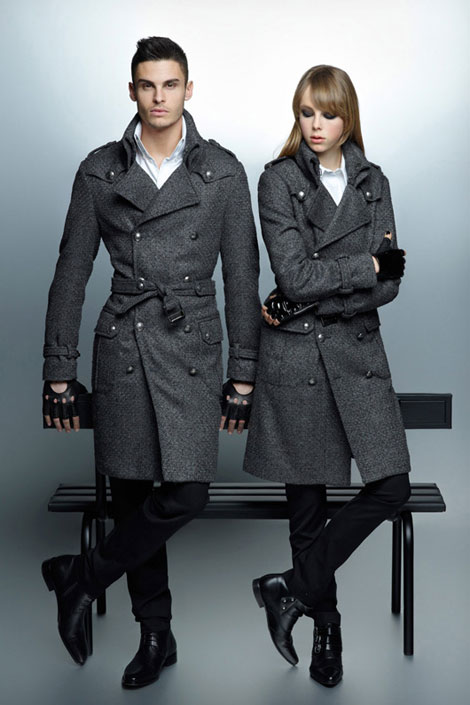 Edie Campbell Baptiste Giabiconi Lagerfeld fall 2012 ad