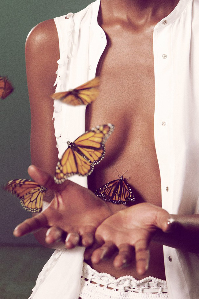 Edun Spring Summer 2012 butterfly ad campaign