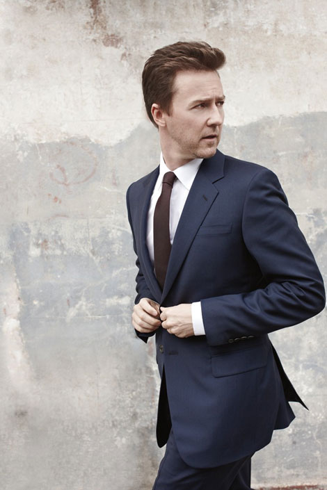 Edward Norton Menswear magazine