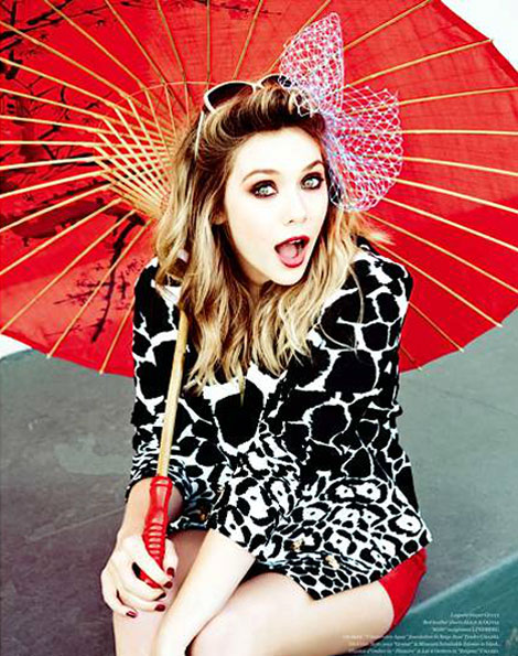 Elizabeth Olsen Photographed By Ellen Von Unwerth For Vs Magazine