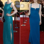 Ellie Kemper Jessica Chastain blue dresses 2012 SAG Awards