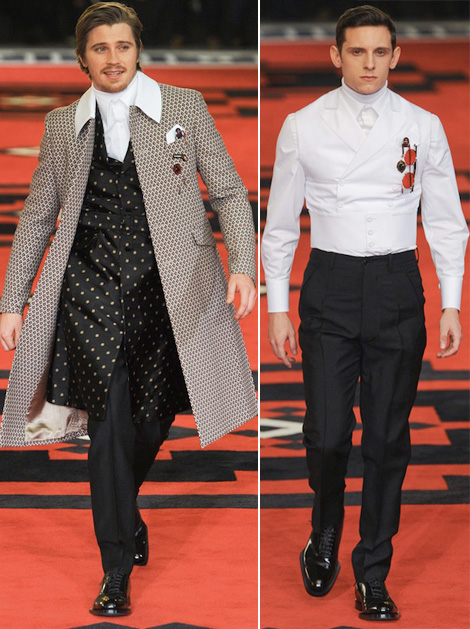 Emile Hirsh Jamie Bell Prada Men Fall 2012