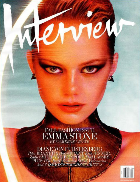 Emma Stone Interview cover Fall Fashion Issue