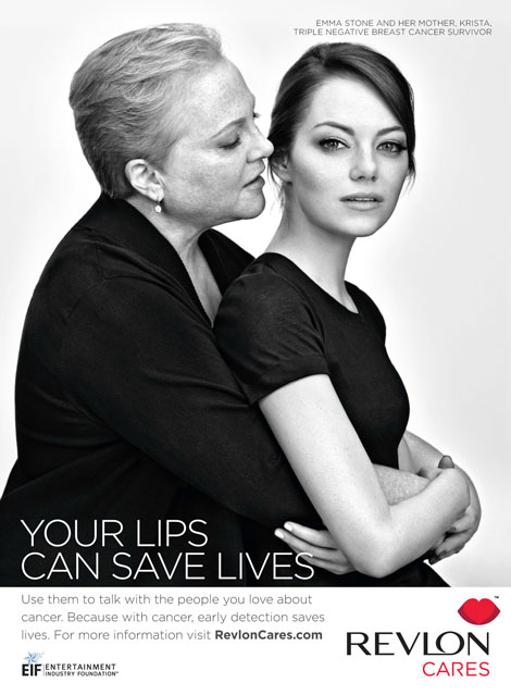 Emma Stone's Revlon Campaign With Her Mother