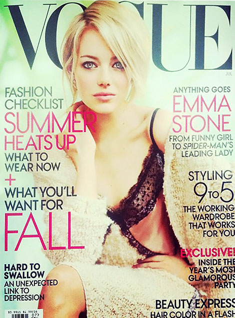 Emma Stone's Vogue July 2012 Cover. Why So Sad?