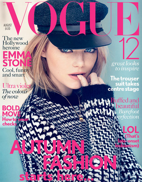 Emma Stone Vogue UK August 2012 cover