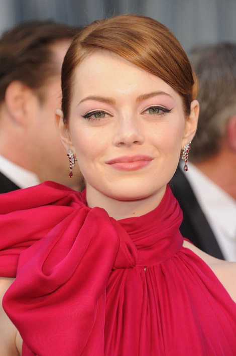 emma stones giambattista valli pink dress for 2012 oscars