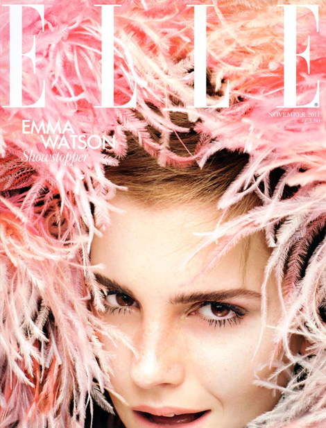 Emma Watson Elle UK November 2011 cover