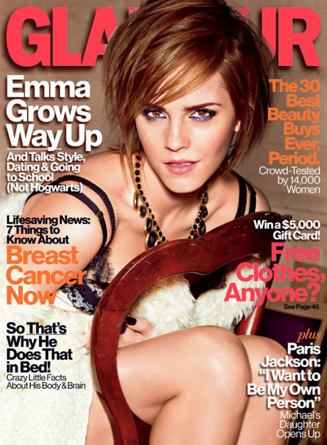 Emma Watson Grown Up Glamour October 2012 cover