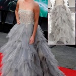 Emma Watson Oscar de la Renta tulle dress Harry Potter premiere
