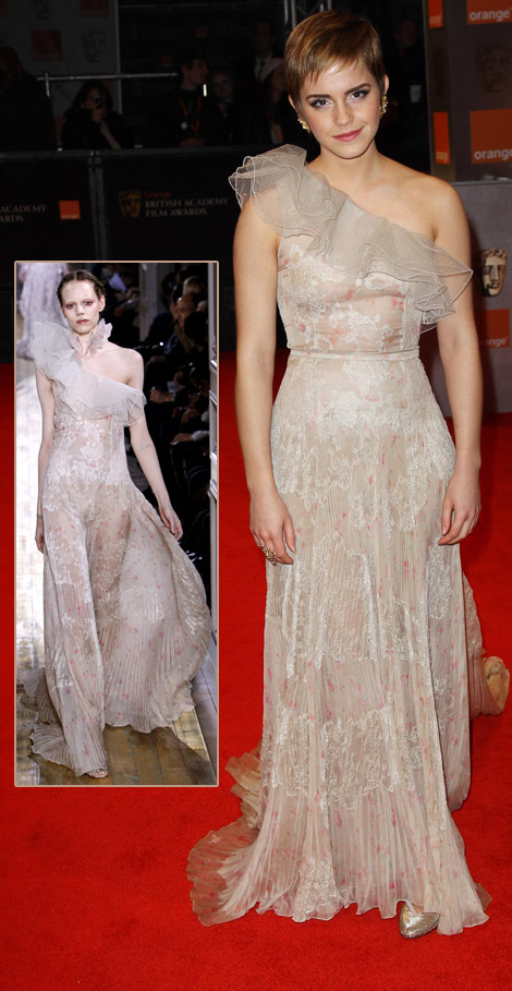 Emma Watson Valentino Couture dress 2011 Bafta Awards