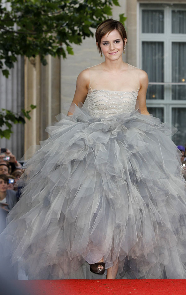 Emma Watson S Oscar De La Renta Tulle Dress For Harry