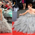 Emma Watson gray dress Harry Potter premiere
