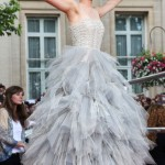 Emma Watson gray tulle odlr dress HP premiere