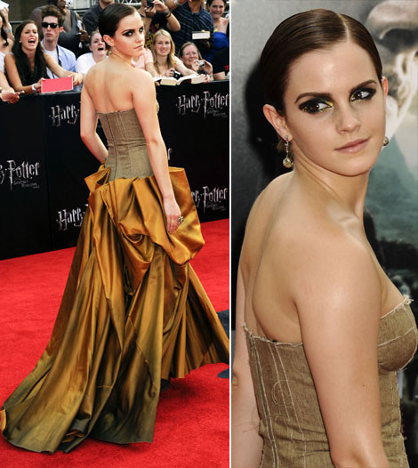 Emma Watson makeup Harry Potter premiere