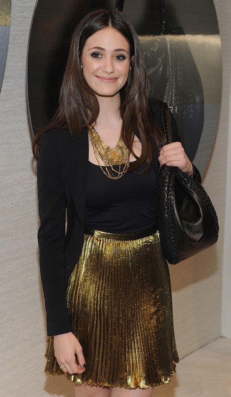 Emmy Rossum Elie Tahari Emmy bag black