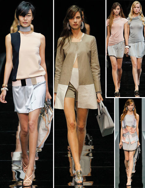Softly Layered: Emporio Armani Spring Summer 2013 Collection