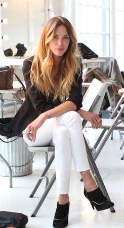 Erin Wasson Walks In Rockport Shoes