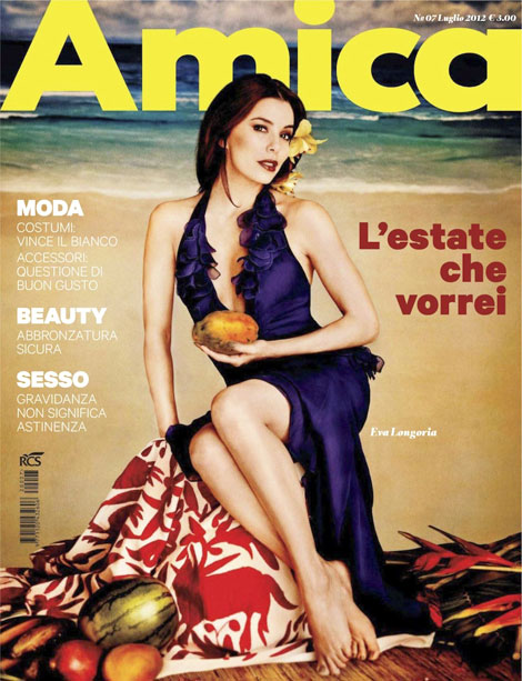 Eva Longoria Amica July 2012 cover