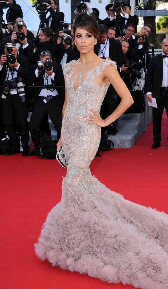 Eva Longoria Marchesa lace dress Cannes 2012 Red Carpet