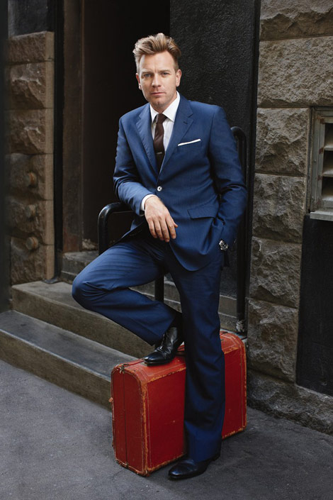 Ewan McGregor fashionable menswear magazine