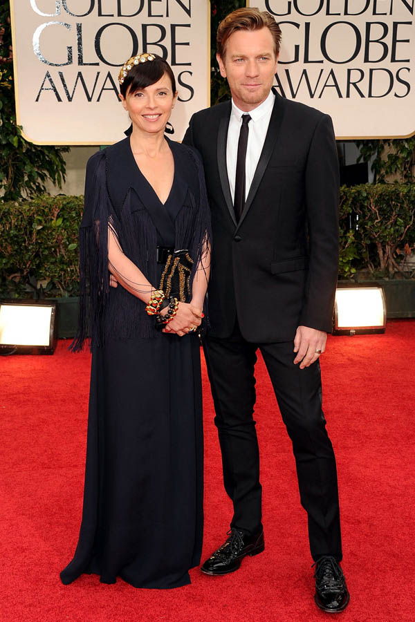 Ewan McGregor s wife Eve Mavrakis in black 2012 Golden Globes