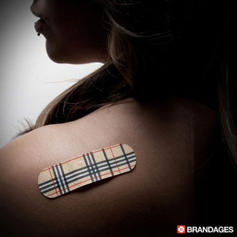 Fashionable Bandaids Burberry Brandages