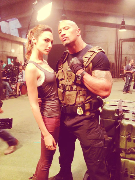 Fast and Furious Six lady Gal Gadot with the Rock
