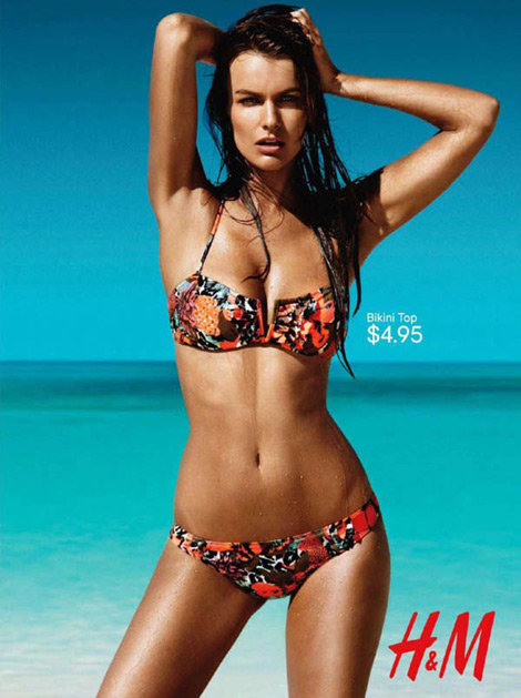 Filippa Hamilton H and M swimwear ad campaign 2011
