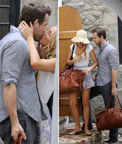 First images of Blake Lively Ryan Reynolds after wedding ceremony First Photos: Blake And Ryan Reynolds (Blake Lively's Wedding Ring)