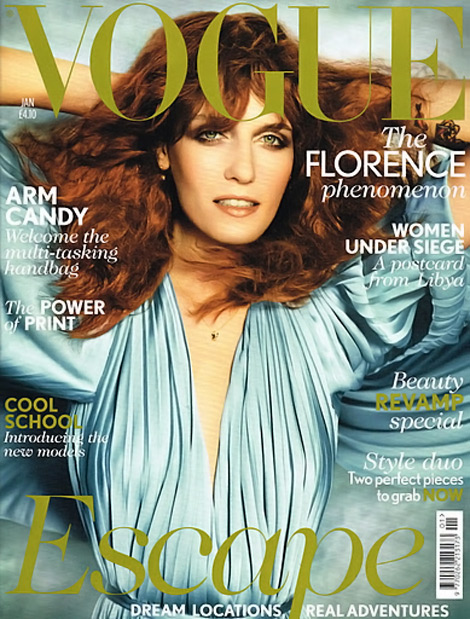 Florence Welch Does Vogue UK January 2012