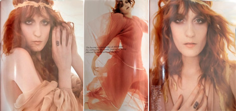 Florence Welch Vogue UK January 2012