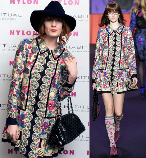 Florence Welch Is Gipsy Chic In Anna Sui And Chanel
