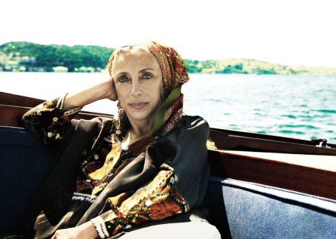 Franca Sozzani vacationing