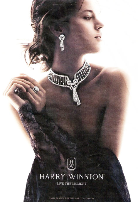 Freja Beha Erichsen Back For Harry Winston Jewelry 2012 Ad Campaign