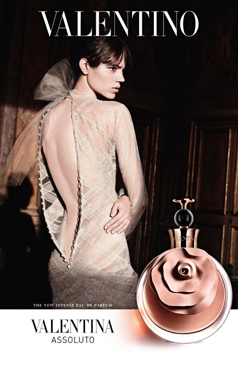 Freja Beha Erichsen Valentino perfume Assoluto Valentina campaign