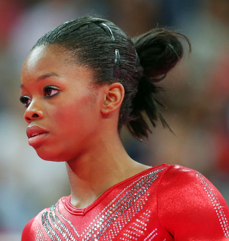 Gabby Douglas Finals Hair: Same As Always!