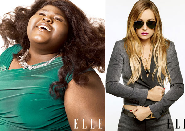 Gabourey, Megan, Lauren, Amanda Cover Elle October 2010